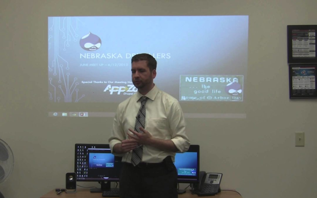 Travis Carden at Nebraska Drupalers