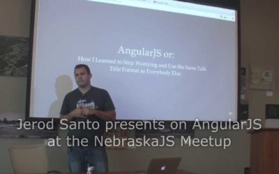 Jerod Santo presents on AngularJS