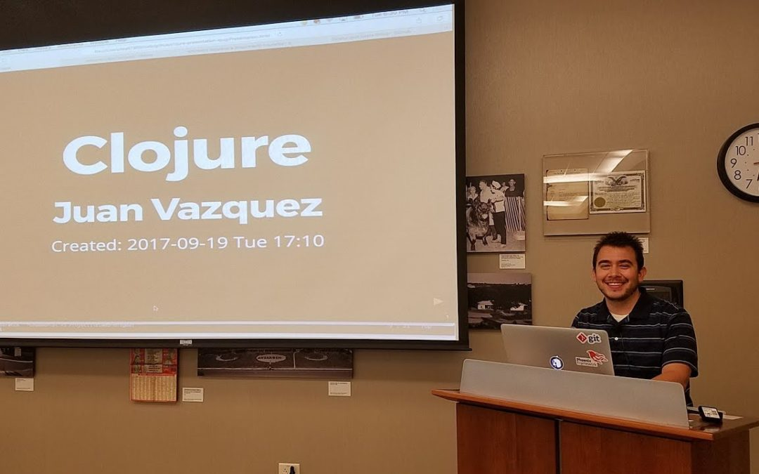 Juan Vazquez – Clojure and functional programming